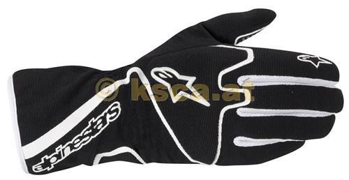 ALPINESTARS TECH 1-KX Karthandschuh Handschuhe 1 KX Schwarz Weiß Kart